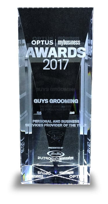 2017 Optus Business Award Trophy Image